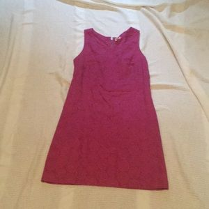 Hot pink sleeveless dress